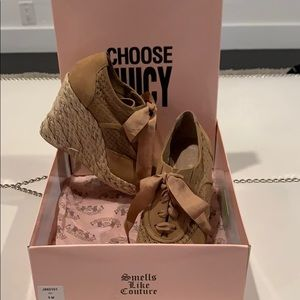 Juicy Couture Brown Wedge Shoes